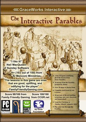 DVD case graphic of Interactive Parables